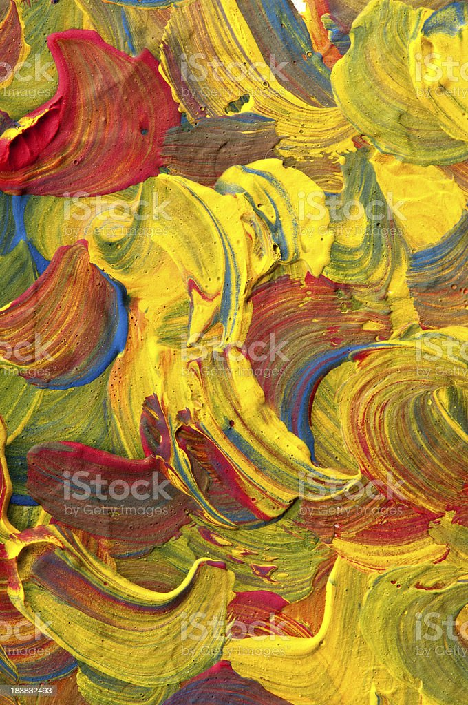 paint by gouache royalty-free stock photo