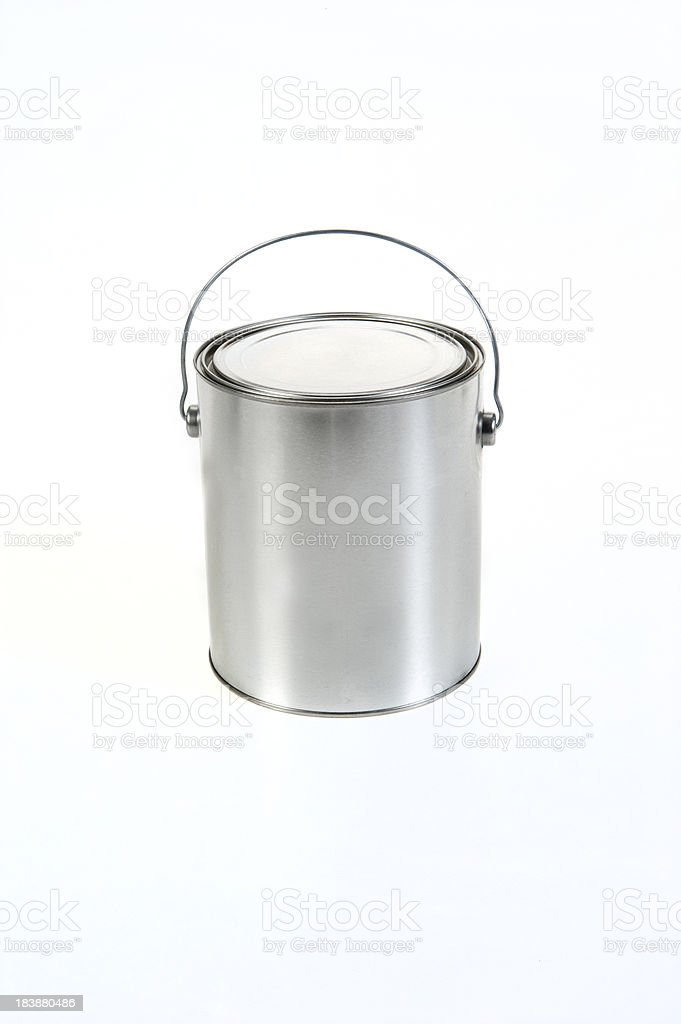 Paint Can on white royalty-free stock photo