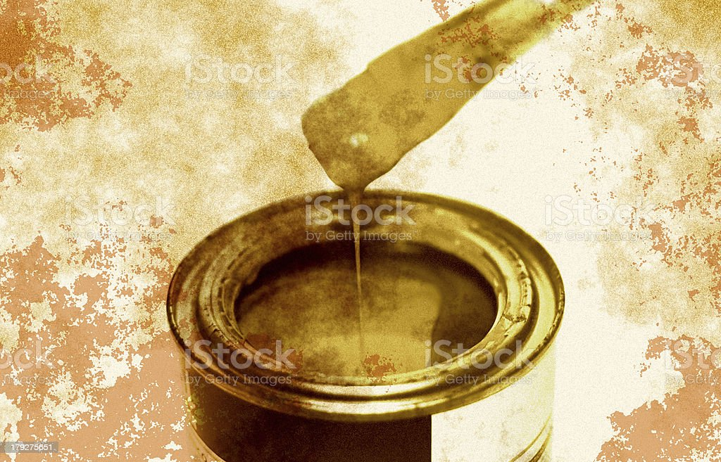 Paint can (Retro serie) stock photo