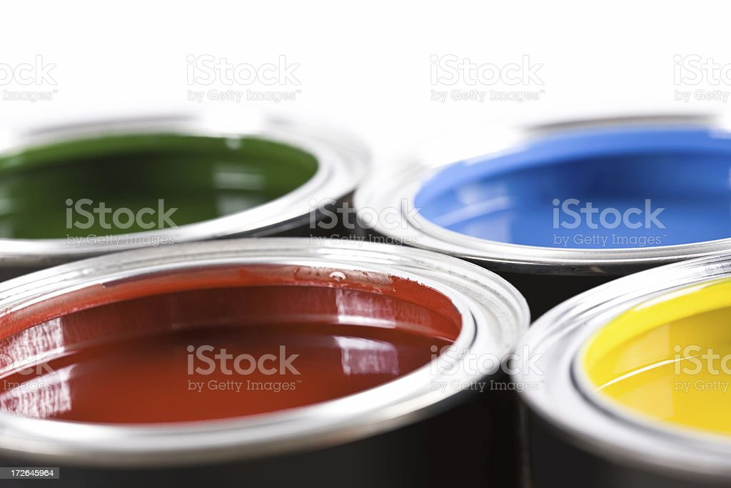Paint Cans royalty-free stock photo