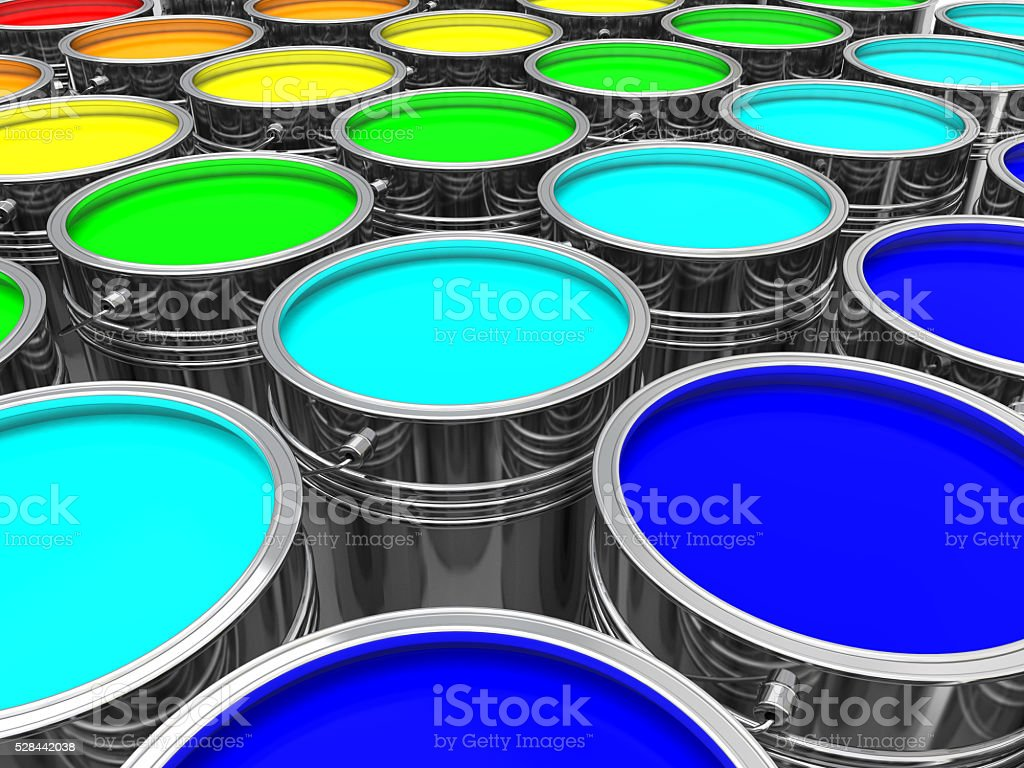 Paint Cans stock photo