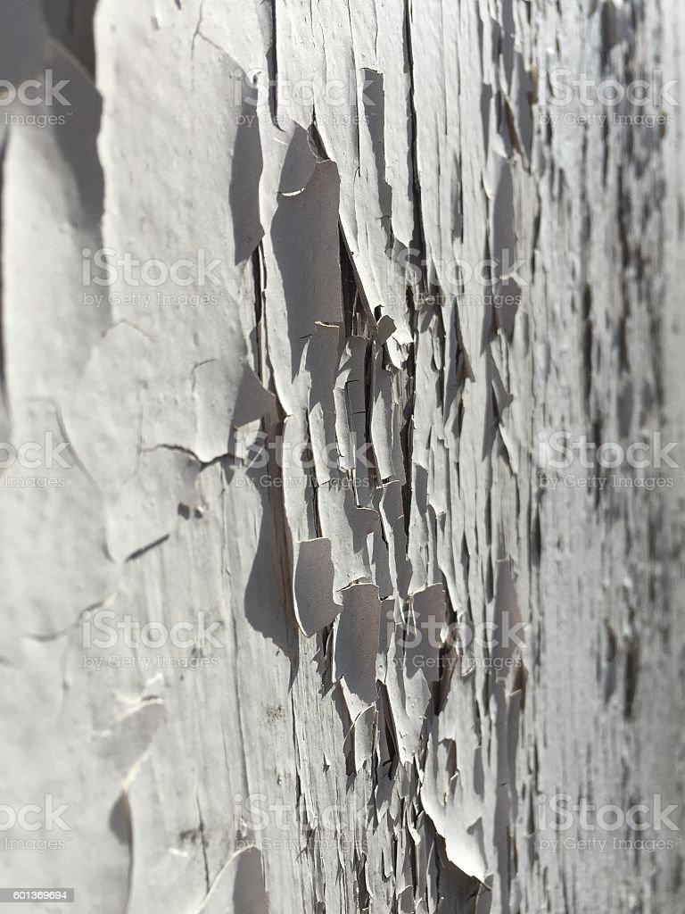 Paint chip macro close up white texture stock photo