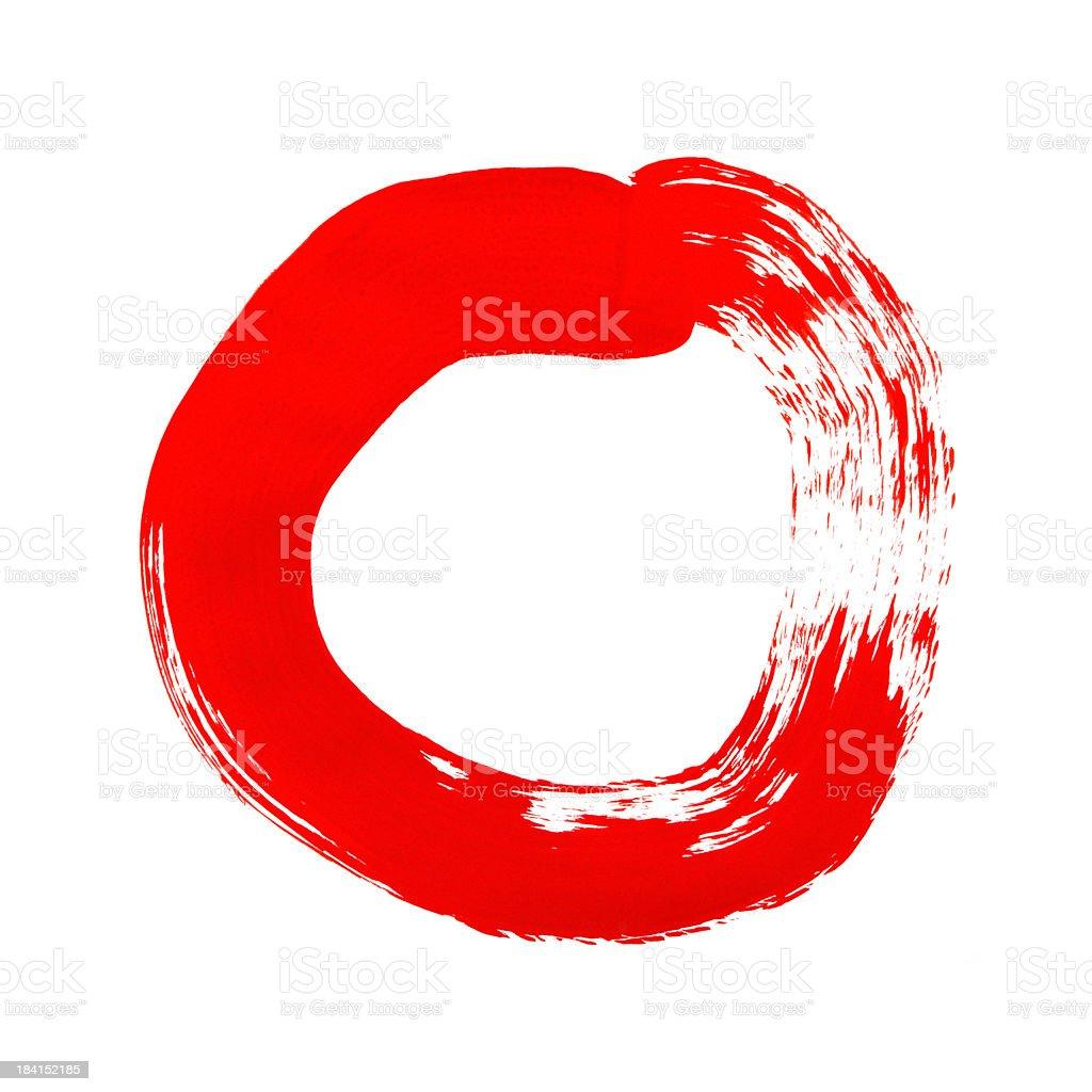 Paint Circle royalty-free stock photo