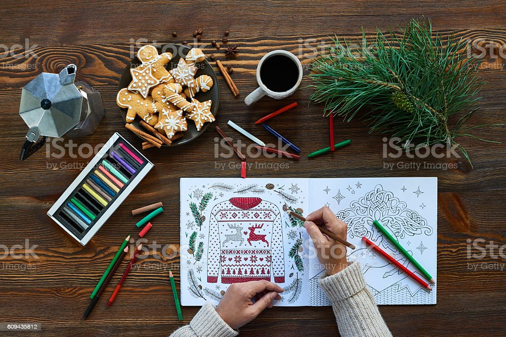 Paint coloring book stock photo