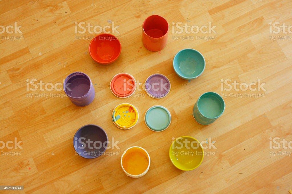 Paint, Colors, Palette & Home Design stock photo