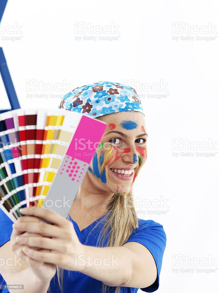 Paint colour chart royalty-free stock photo