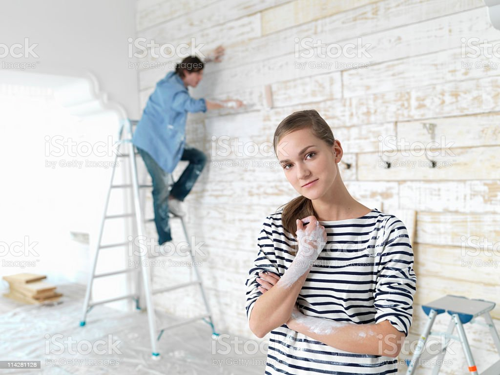 Paint couples royalty-free stock photo