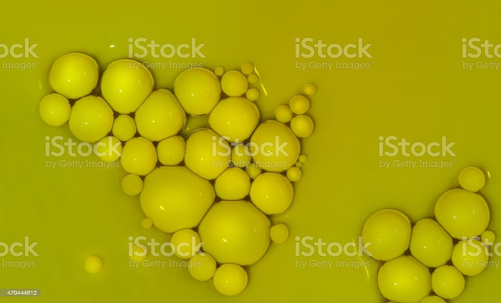 Paint drops in oil.. stock photo