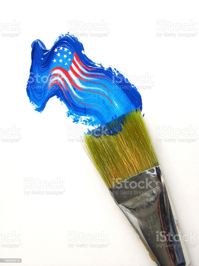 paint flag(USA) royalty-free stock photo