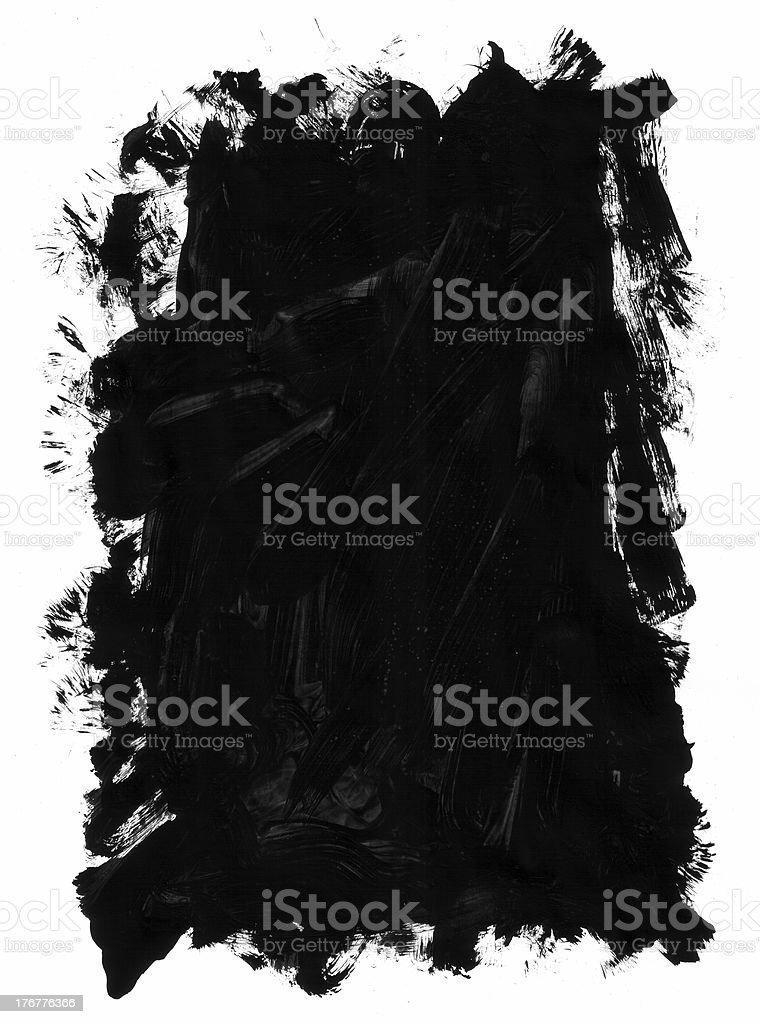 Paint Frame Messy Brush Edged royalty-free stock photo