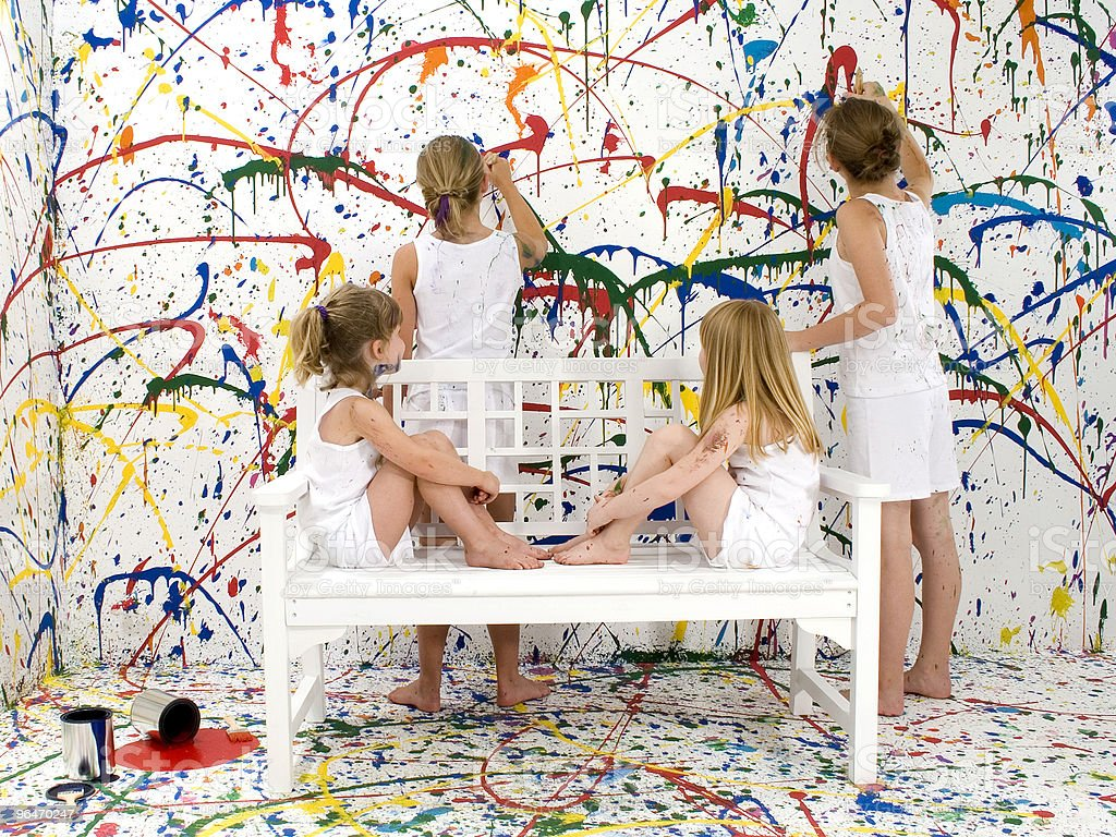 Paint Girls royalty-free stock photo
