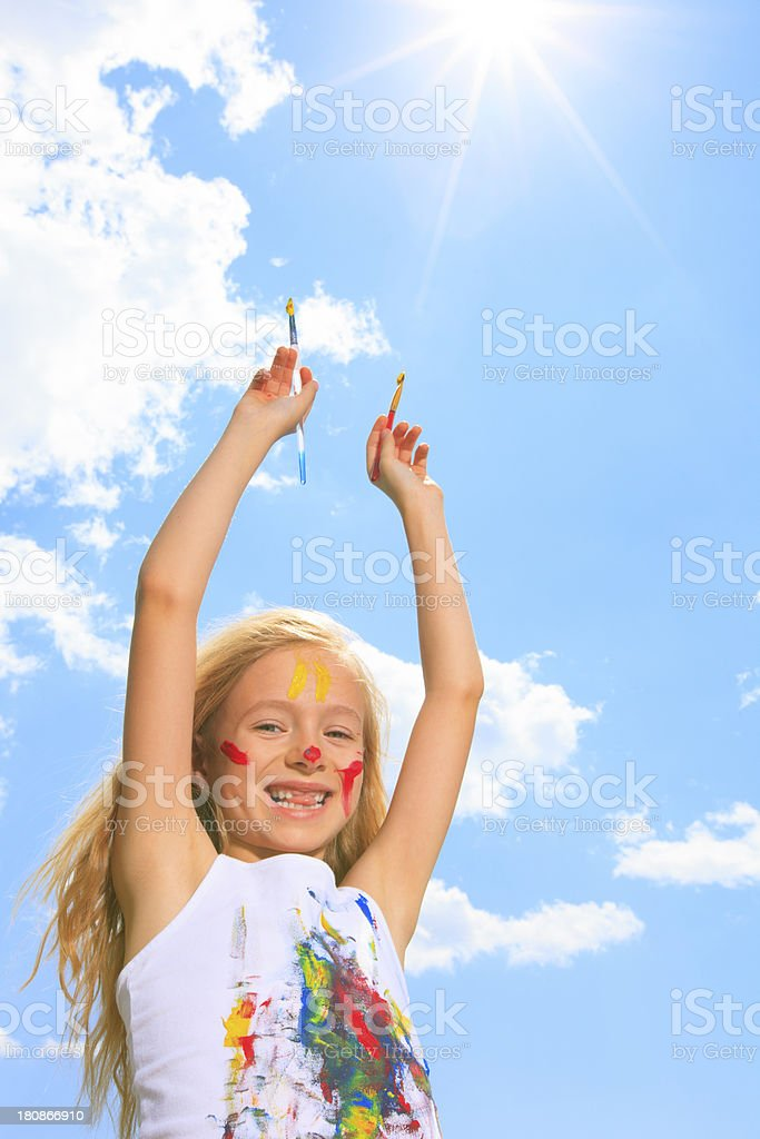 Paint - Hand Up stock photo