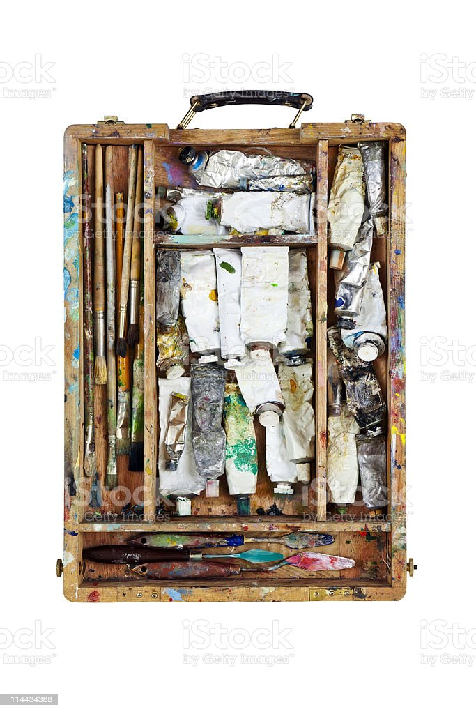 paint in the sketchbook royalty-free stock photo