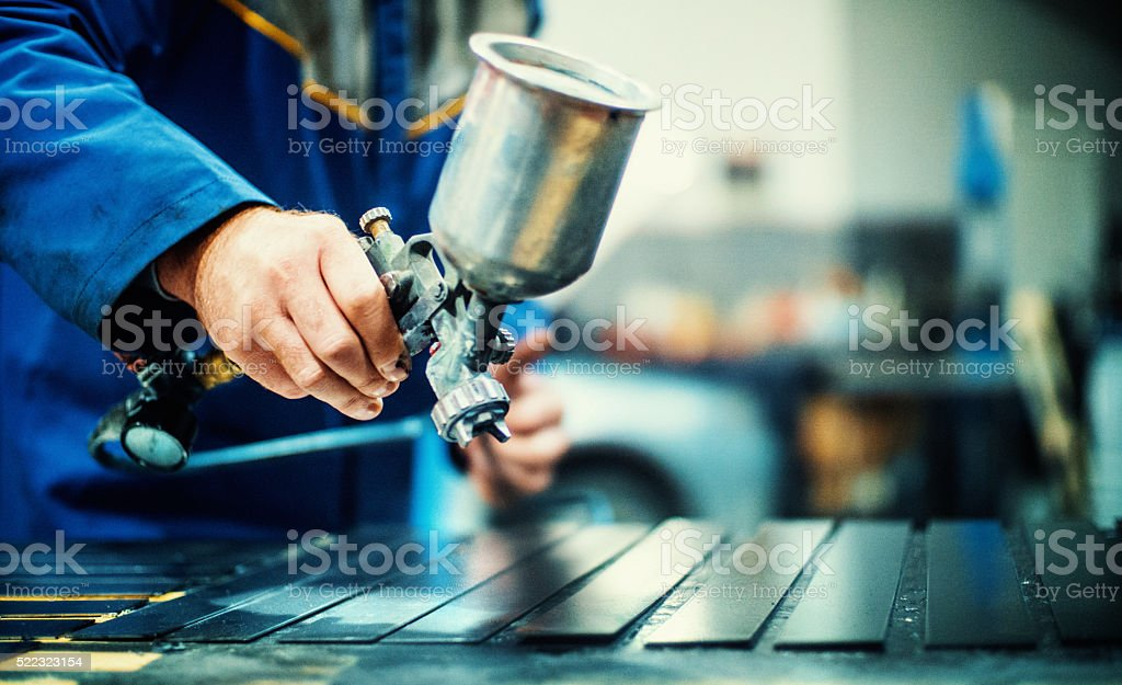 Paint job. stock photo