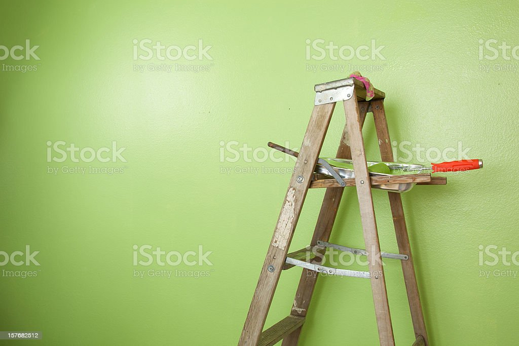 Paint Ladder stock photo