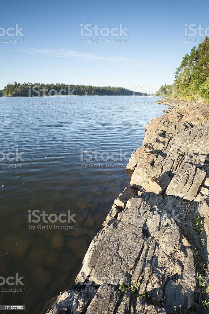 Paint lake Provincial Park stock photo