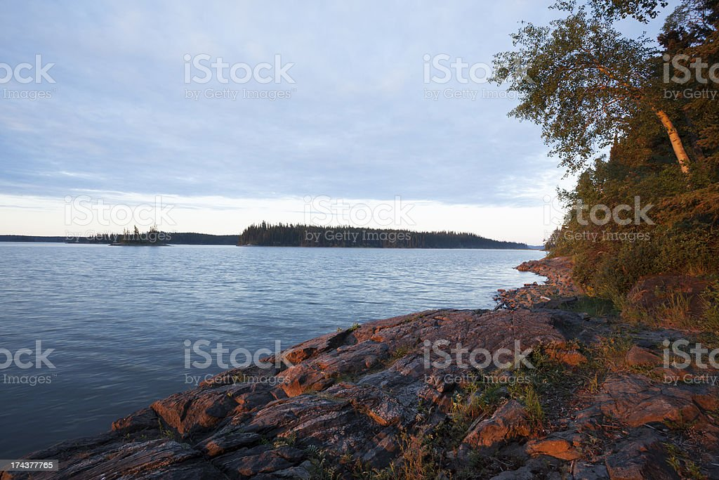 Paint lake Provincial Park royalty-free stock photo