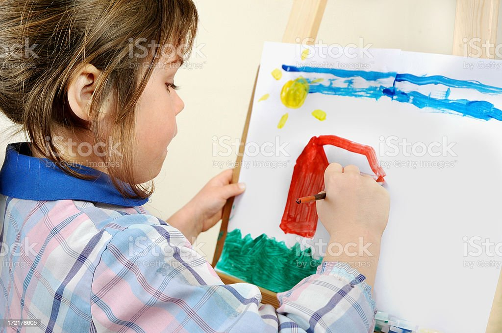 Paint me a home royalty-free stock photo