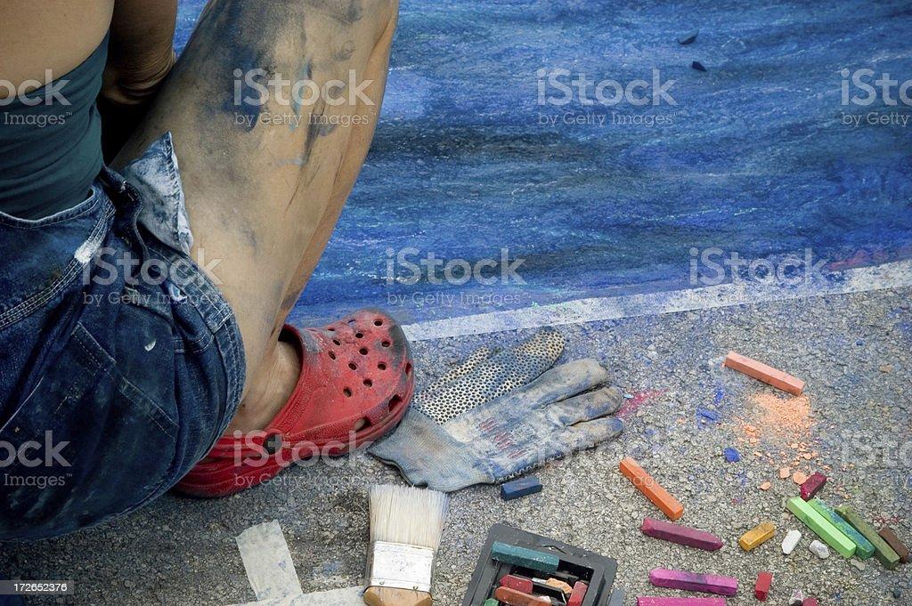 Paint me a River stock photo