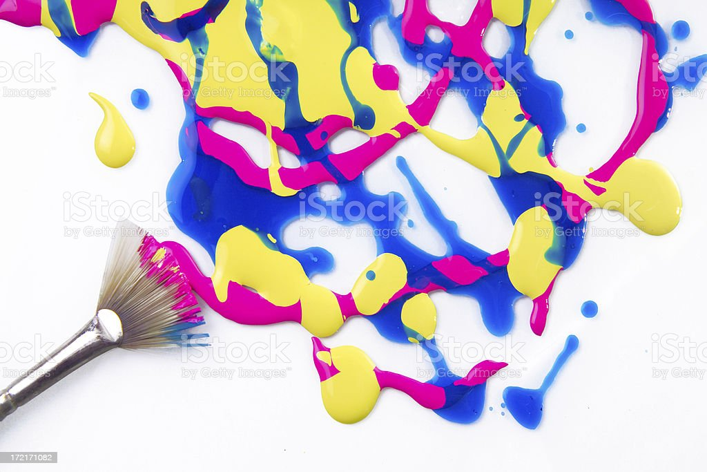 paint mess royalty-free stock photo