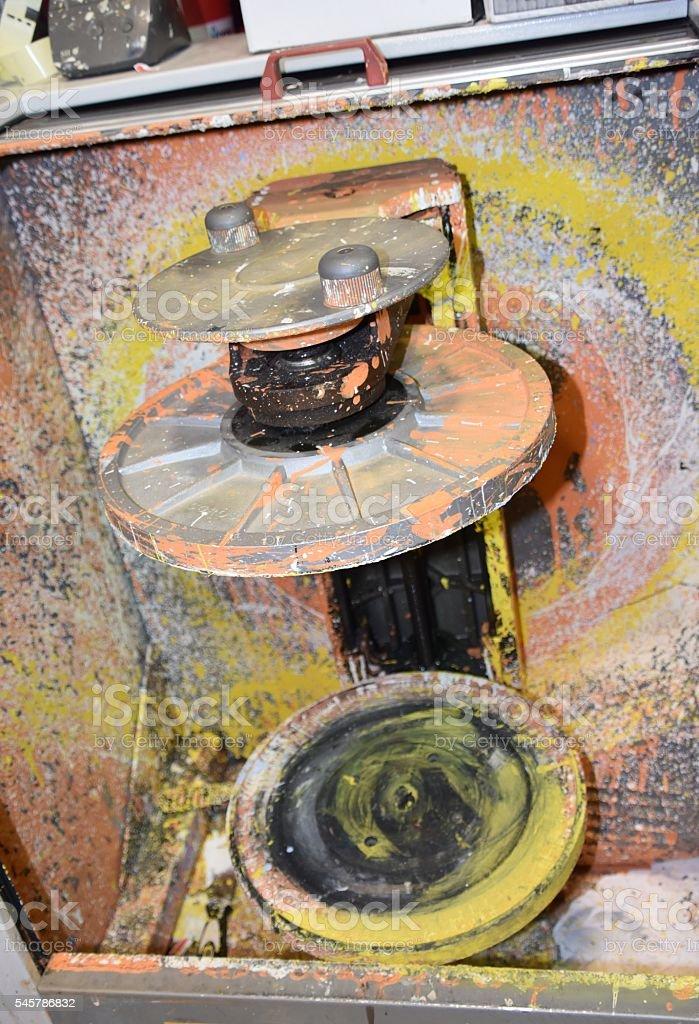 paint mixing stock photo