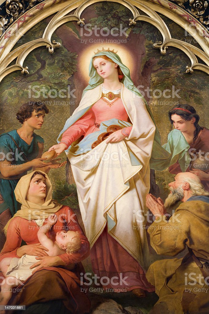 paint of st. Elizabeth from Vienna church royalty-free stock photo