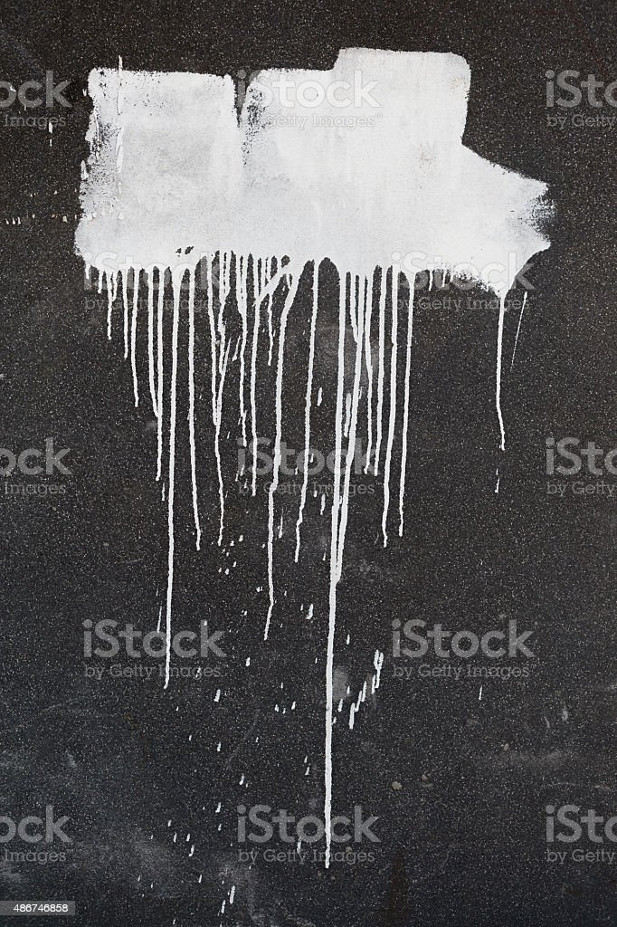 Paint on the concrete wall stock photo