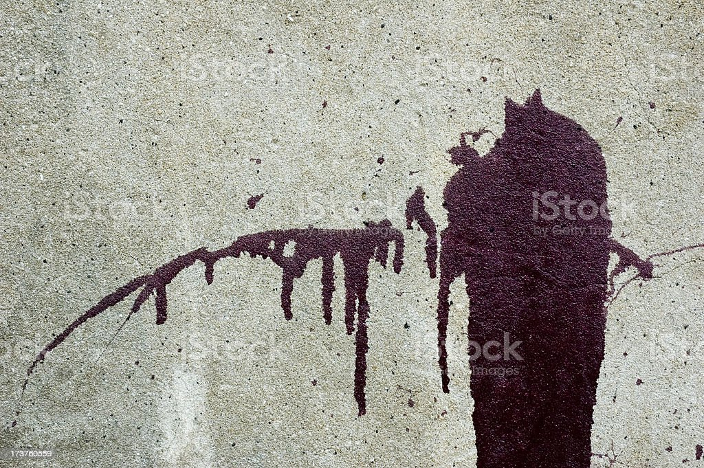 paint on wall royalty-free stock photo