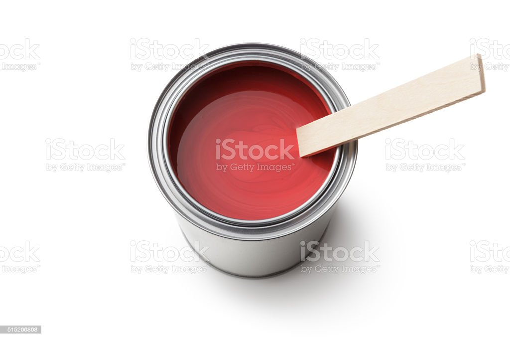 Paint: Paint Can Isolated on White Background stock photo