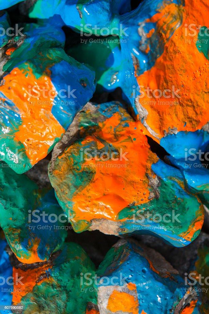 paint painted stones closeup stock photo