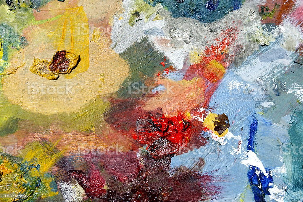 Paint Palette Close-Up royalty-free stock photo