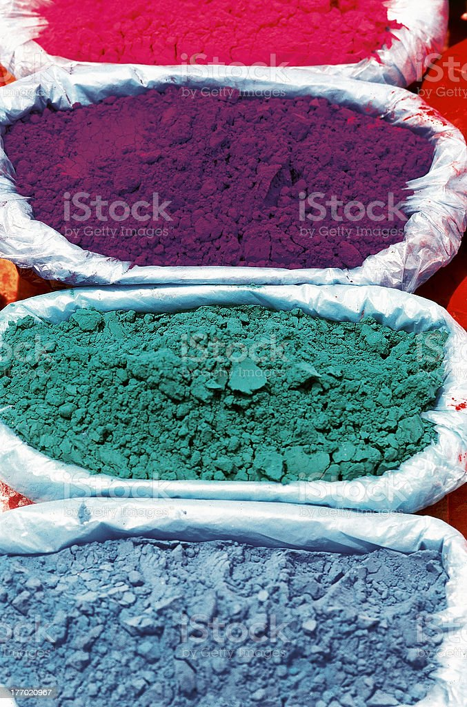 Paint pigment in the sun stock photo