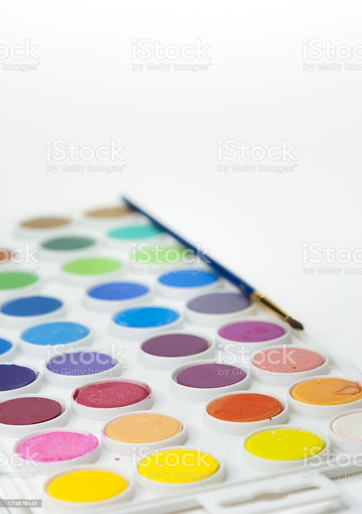 Paint Pot Platter royalty-free stock photo