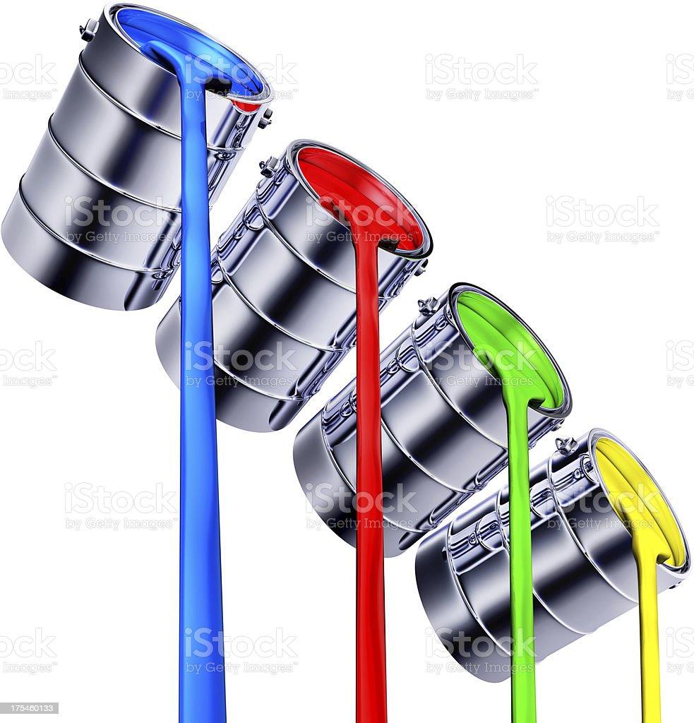paint pots stock photo