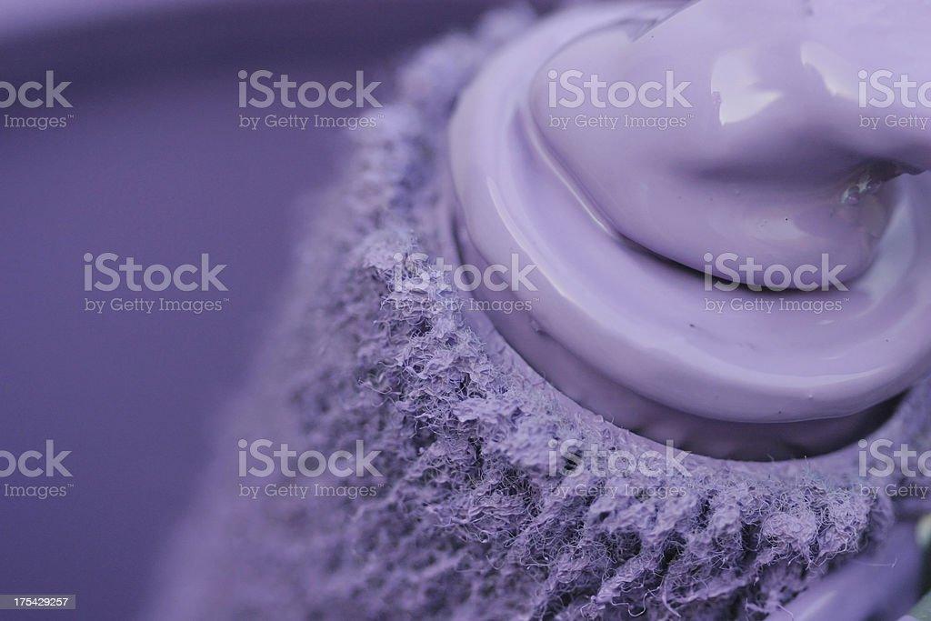Paint Roller Macro royalty-free stock photo