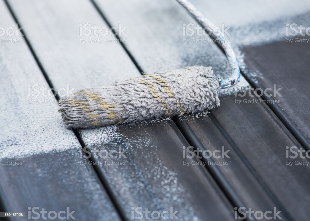 Paint roller. stock photo
