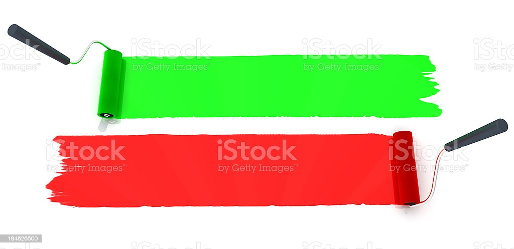 Paint Rollers stock photo