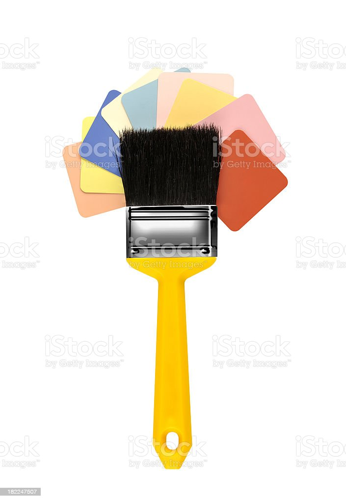 Paint Sampler with brush royalty-free stock photo