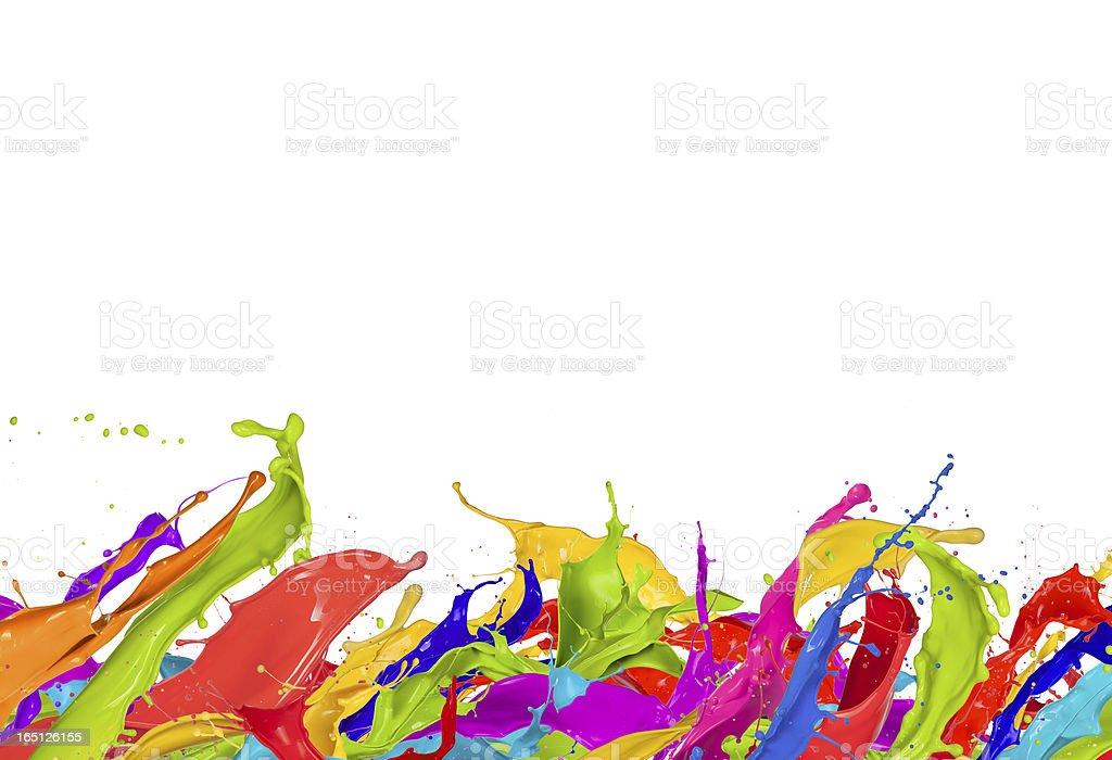 Paint splashes royalty-free stock photo