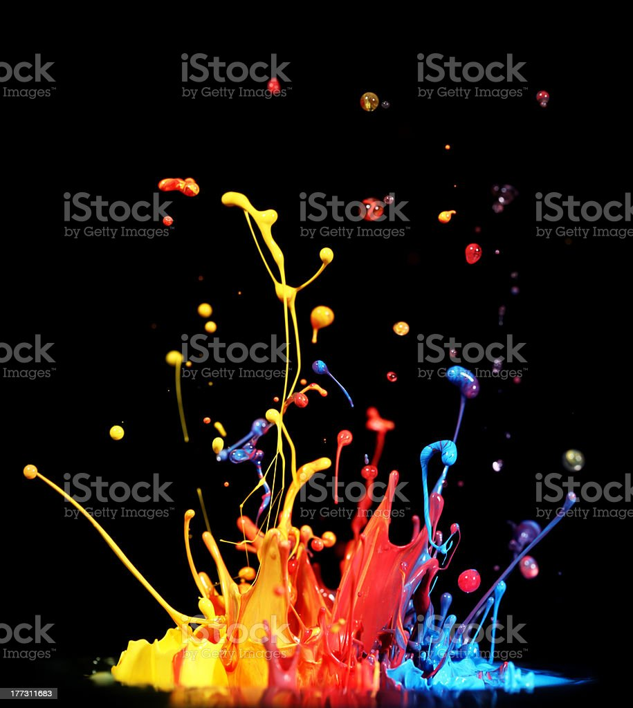 Paint splashing royalty-free stock photo