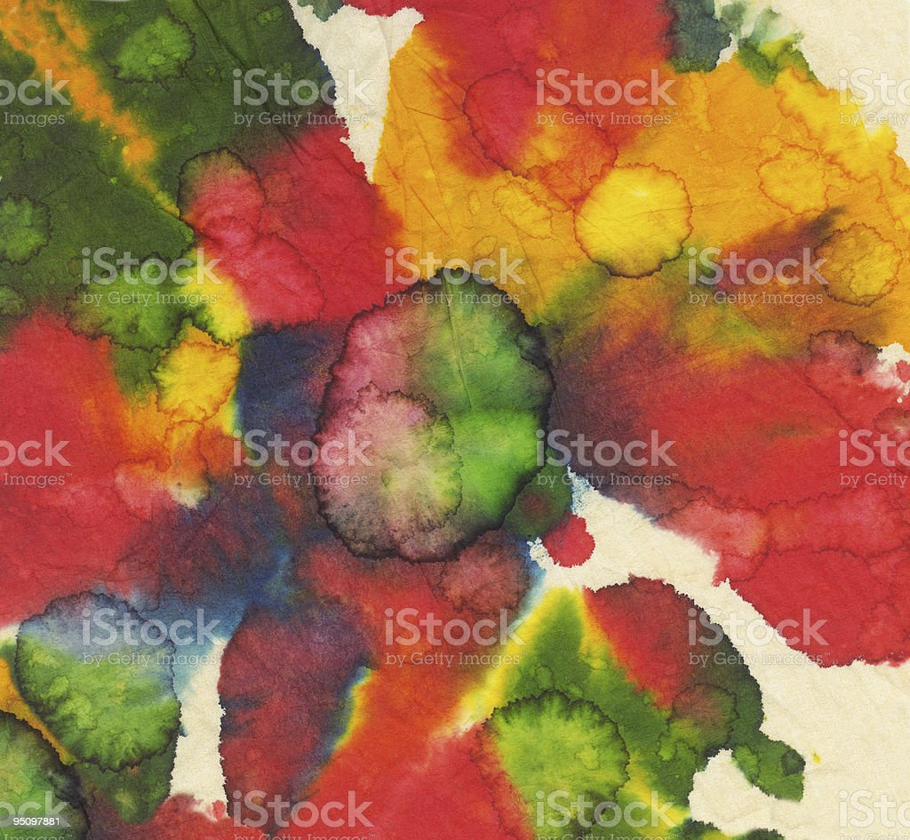 Paint Splotches on Textured Paper royalty-free stock photo