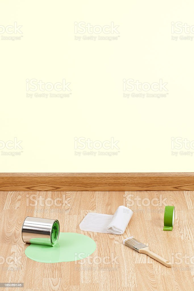 Paint Supplies and Spill royalty-free stock photo