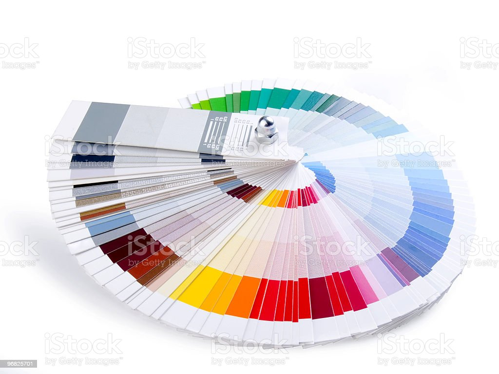 Paint swatch color guide brochure stock photo