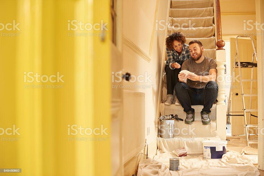 paint swatch couple stock photo