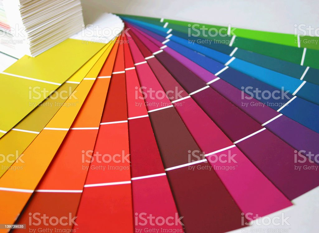 Paint Swatch Rainbow royalty-free stock photo