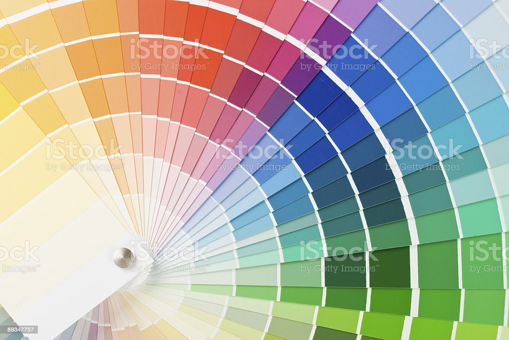Paint swatches of many different colors royalty-free stock photo