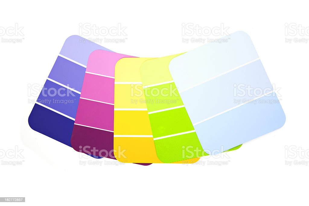 Paint Swatches royalty-free stock photo