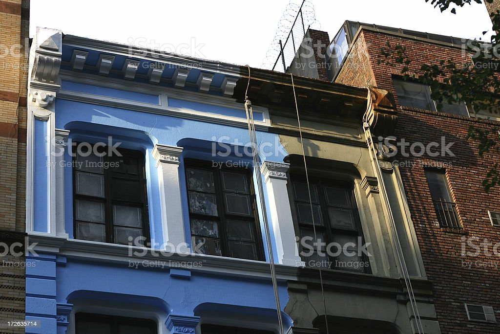 Paint the town blue royalty-free stock photo
