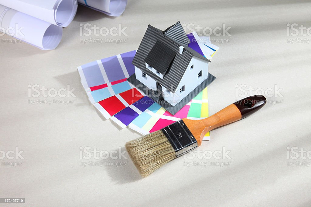 Paint tools stock photo