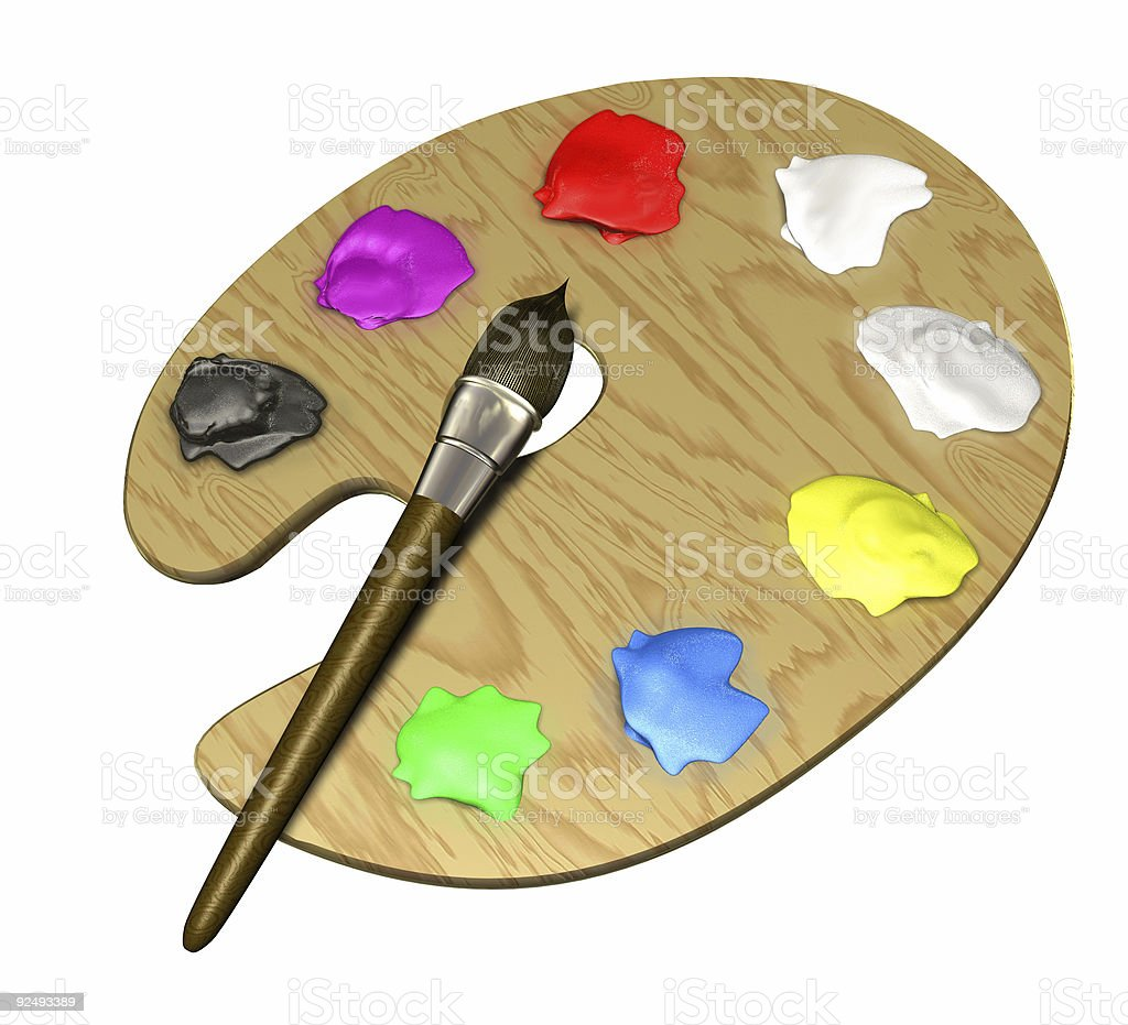 Paint Tools (3D) royalty-free stock photo